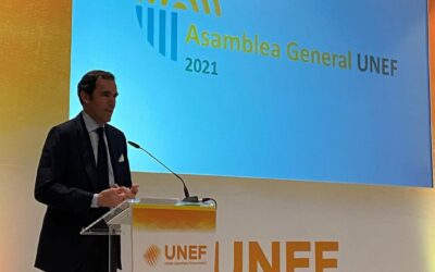 Rafael Benjumea, president of UNEF, during the Assembly of members